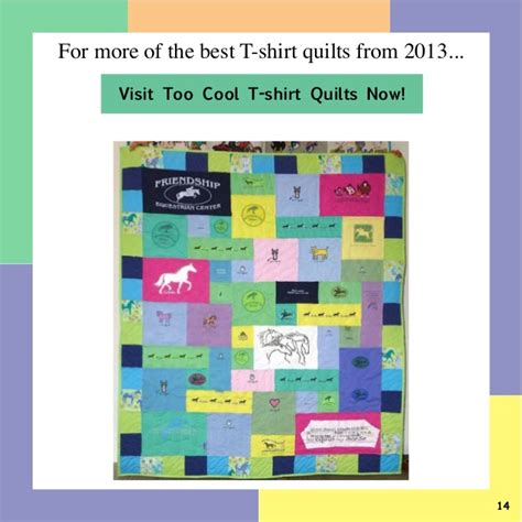 Best T Shirt Quilts by Best T Shirt Quilts Of 2013