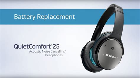 bose quietcomfort  battery replacement youtube