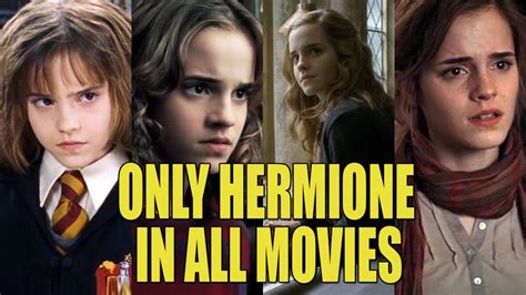 All About Hermione Granger only hermione through all 8 harry potter