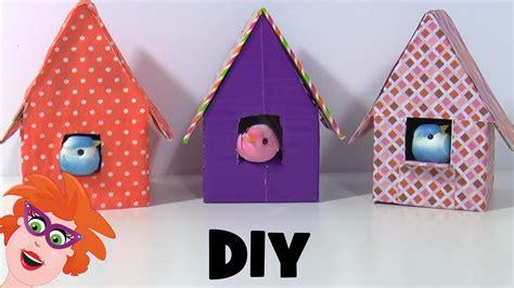 bootje van papier youtube vogelhuisjes knutselen van karton en papier youtube