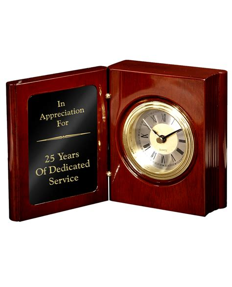 clocks a novel books rosewood piano finish book clock k2 awards and apparel