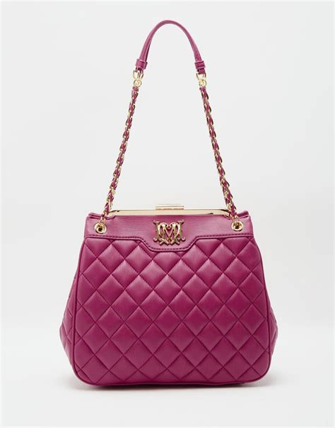 Moschino Quilted Shoulder Bag by Moschino Quilted Shoulder Bag With Chain Straps In