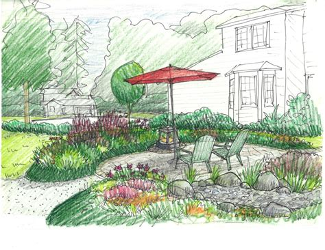 drawing of garden beautiful easy garden drawing pictures how to draw a