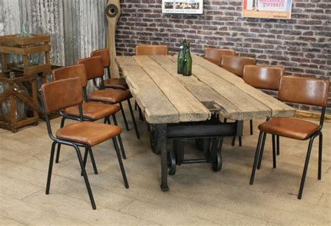 Dining Table Chairs Brown Leather