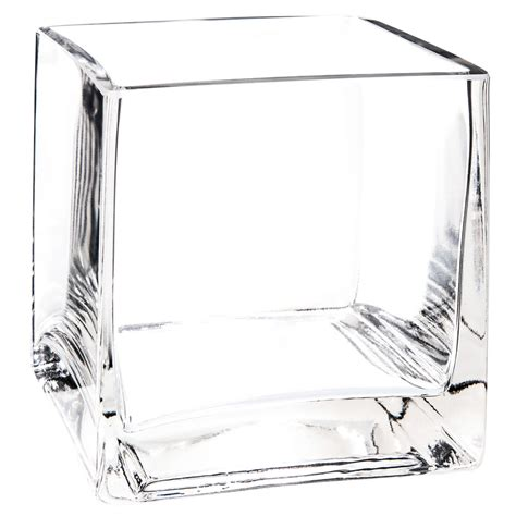 vaso vetro quadrato vaso quadrato in vetro h 10 cm maisons du monde