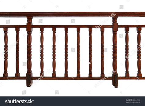 Decorative Wood Railing by Wooden Decorative Railing Isolated On White Stock Photo 90516778