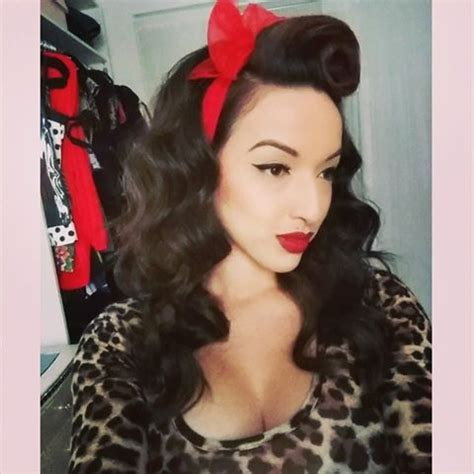 pinup fashion rockabilly hairstyle with hair scarf