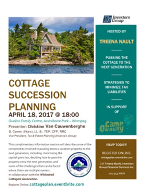 Cottage Succession Planning succession seminar registration opens friday march 3rd