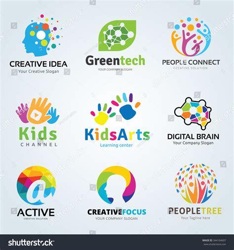 Royalty Free Logo Set Kids Arts And Creative Brain 344164607 Stock Photo Avopix Com Tree Logo Setpeople Logo Setfamily