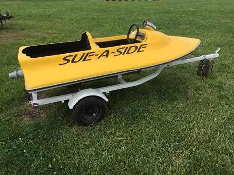 mini jet boat jet unit sue a side mini jet boat with trailer completely restored