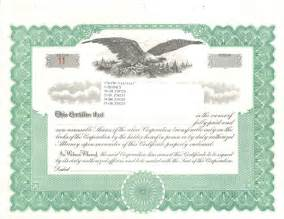 blank stock certificate template search results