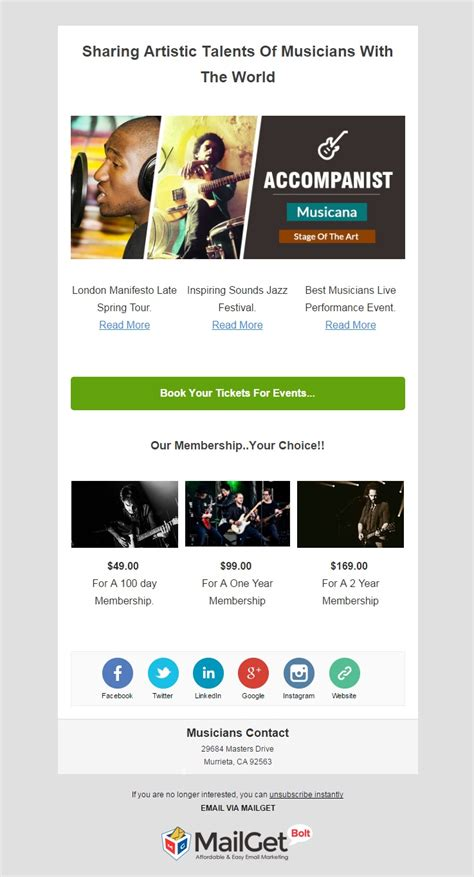 9 best music email templates for musicians orchestras