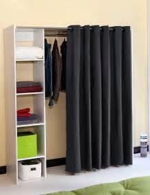 armoire extensible 171 dressing 1 187 avec rideau inclus