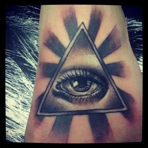 illuminati eye tattoo black and grey 3d illuminati eye design by