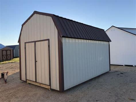 metal lofted barn shed storage shed  sale  fort