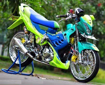 Lu Untuk Satria Fu 100 gambar modifikasi satria fu keren terbaru modif drag