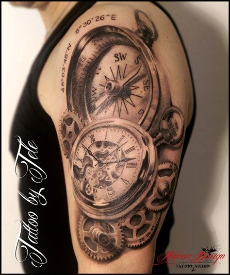 tattoo studio augsburg uhr kompass tattoo jpg