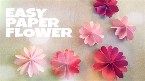 flower design using colored paper diy room decoration with paper flower youtube