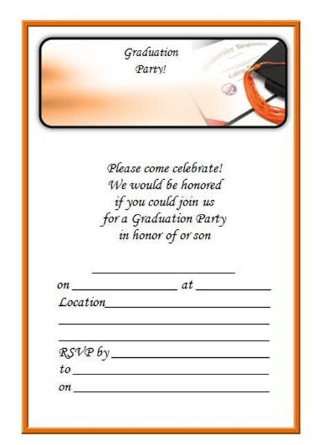 printable graduation invite smiley grad