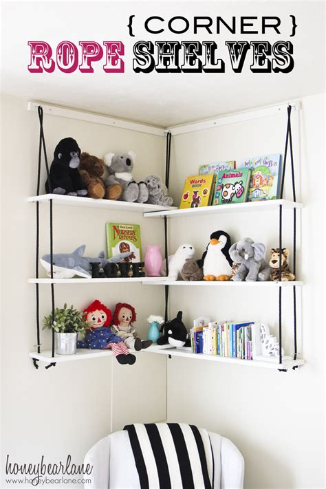 corner rope shelves diy honeybear