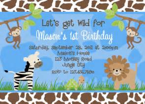 birthday invitations jungle 1st party invites birthday