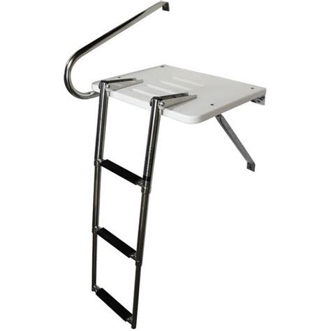 boat swim platform outboard outboard swim platform with 3 step ladder boat outfitters