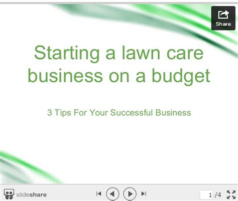 starting a lawn care business invoiceberry