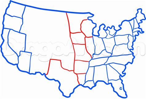 Drawing 50 States by How To Draw The United States Step By Step Stuff Pop