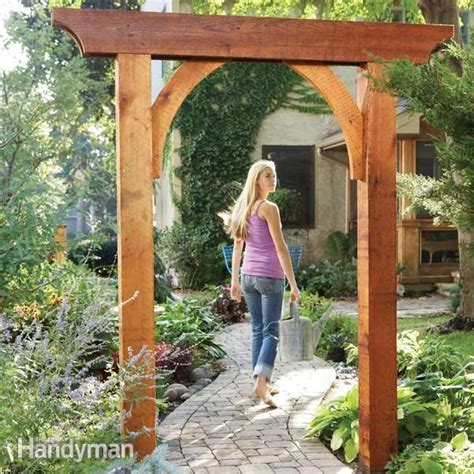 build a garden arch the family handyman