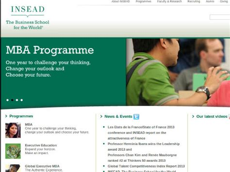 Companies That Sponsor Mba In India by Insead B School Offers Scholarship For Students Careerindia