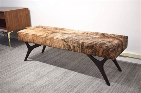 cowhide bench finn leg cowhide bench for sale at 1stdibs