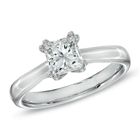 promise canadian princess cut solitaire engagement