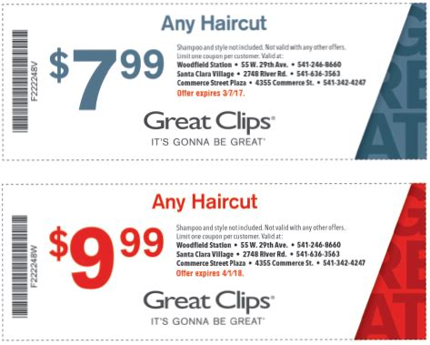 haircut coupons in phoenix valpak great clips coupon mega deals and coupons
