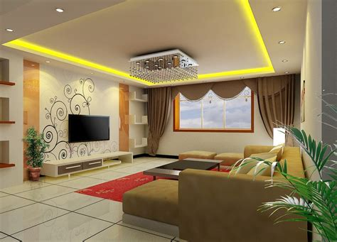design for living room living room tv wall wallpaper and curtain design 3d