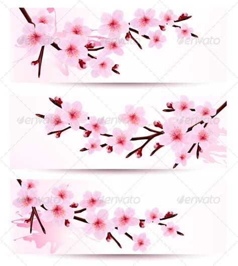 Free Home Design Software Youtube banners with sakura branches graphicriver