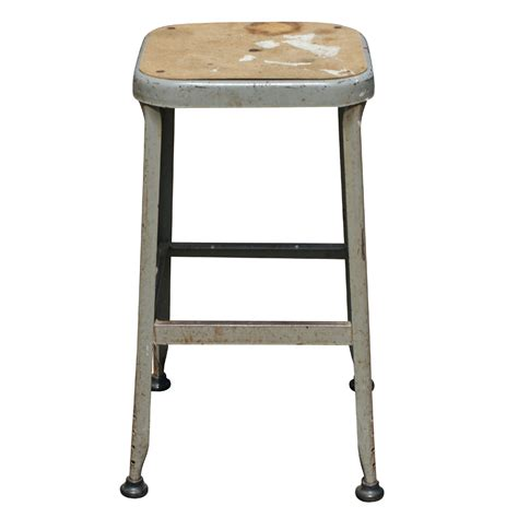 (1) Vintage Industrial Age Metal Bar Stool   eBay