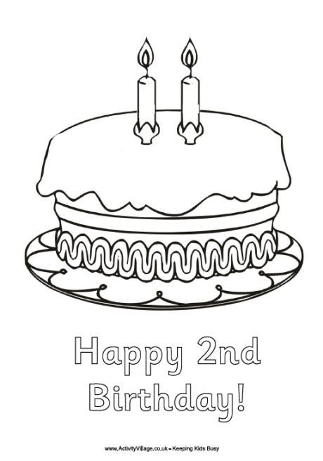 art of dachshund single coloring page happy birthday by 2nd birthday cake clip art 16