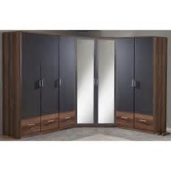 smart 2 door mirrored corner wardrobe