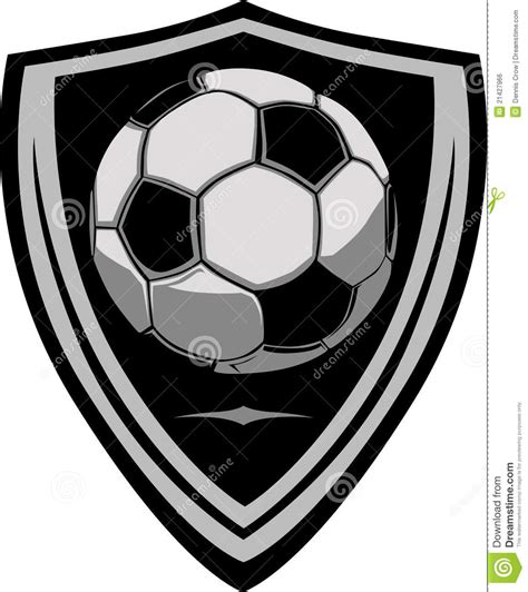 Soccer Template With Shield Stock Vector Image 21427966 Soccer Design Template