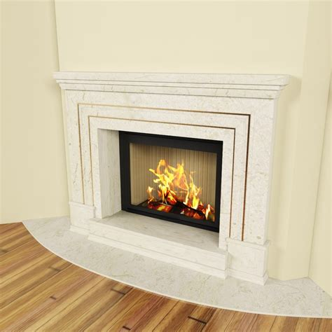 Fireplace 3d by Classic Fireplace 3d Model