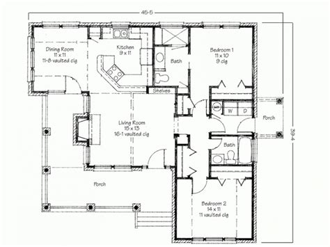 2 Floor House Plans Two Bedroom House Simple Floor Plans House Plans 2 Bedroom