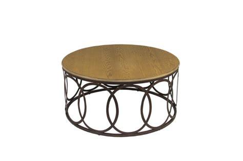 Rustic Oak Table Transitional Round Coffee Table Ella Ella Coffee Table