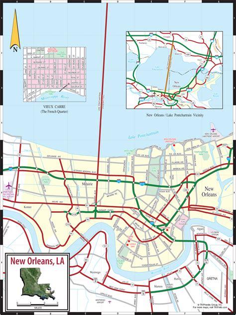 louisiana highway map pdf new orleans la map