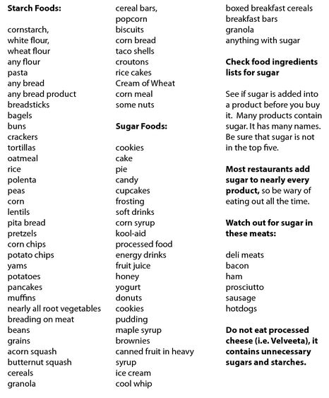 carbohydrates are broken into the p90x3 food lists are broken up into 3 categories