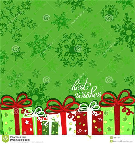 html pattern message christmas presents on green seamless snowflake pattern