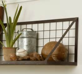 pottery barn shelving kellan wall mount shelf industrial display and wall