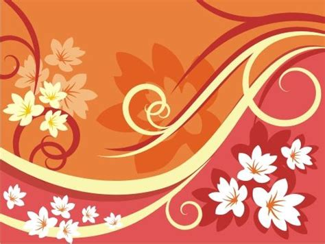 floral pattern vector corel orange white vector floral pattern download coreldraw