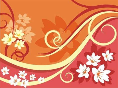 floral pattern corel orange white vector floral pattern download coreldraw