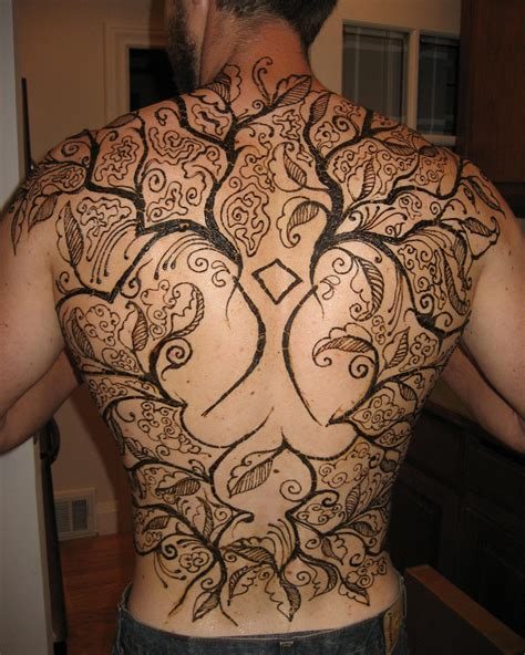 full back tattoo henna images designs