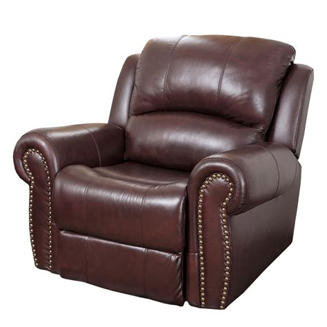 pleather recliner abbyson living sedona leather chaise recliner reviews